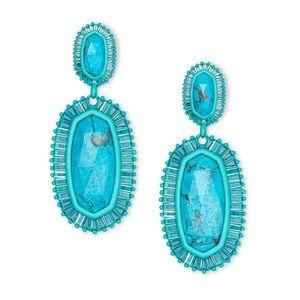 Kendra Scott Kaki earrings Matte Turquoise